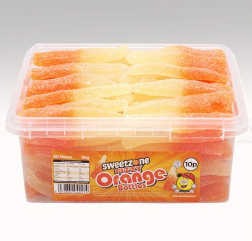 SWEETZONE FIZZY ORANGE BOTTLES 10p x60